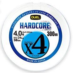 デュエル ハードコアX4 5色イエローマーキング 300m 3号 / PEライン (O01) 【本店特別価格】