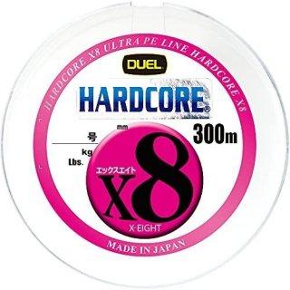 デュエル ハードコアX8 マーキングシステム 5色イエローマーキング 300m 0.8号 / PEライン (O01) 【本店特別価格】