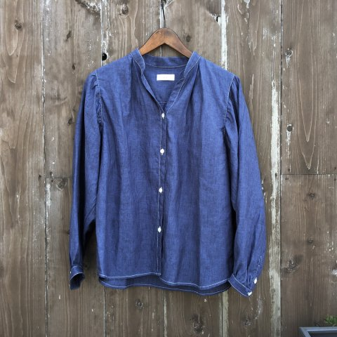 "Willfree ""Linen Skipper Volume Sleeve Shirt"""