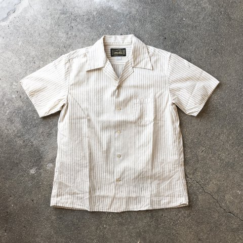 "ORGUEIL ""Dobby Stripe Open Collared Shirt"""
