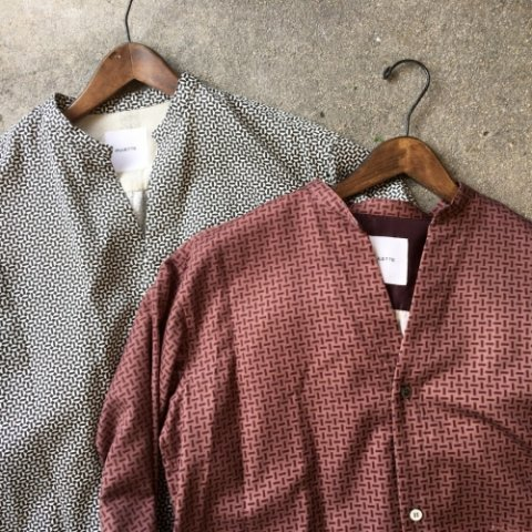 "PULETTE ""Tile Pattern Long Shirt"""