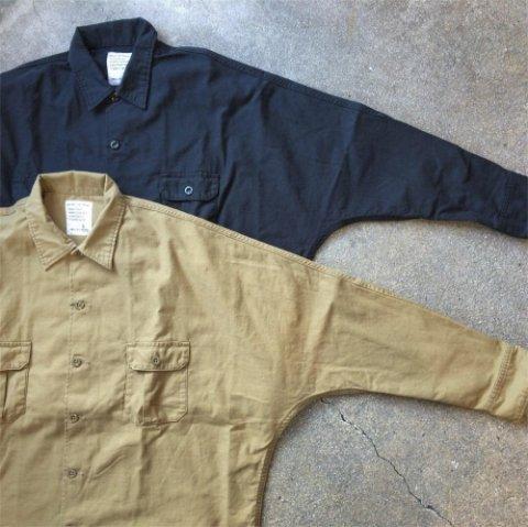 "H.UNIT STORE LABEL ""Back Satin Dolman Open Collar Long Sleeve Shirt"""