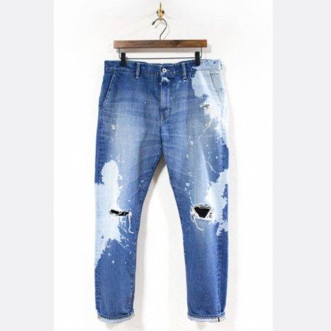 """H.UNIT STORE LABEL """"Indigo denim slim trousers(Customize)"""""""