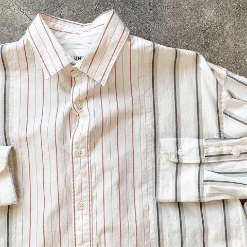 "H.UNIT ""Stripe Crazy Wide Long Sleeves Shirt"""