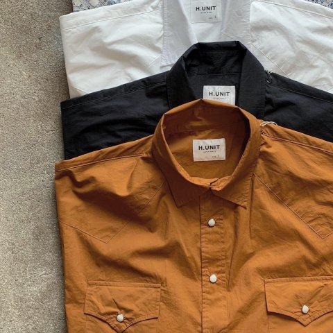 "H.UNIT ""Typewriter Western Dolman Short Sleeve Shirt"""