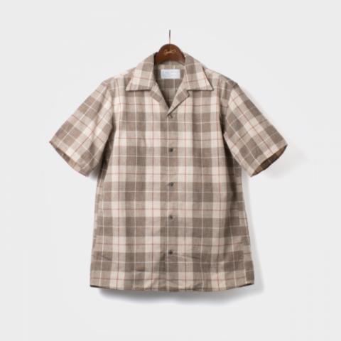 "ORGUEIL ""Open Collared Check Shirt"""