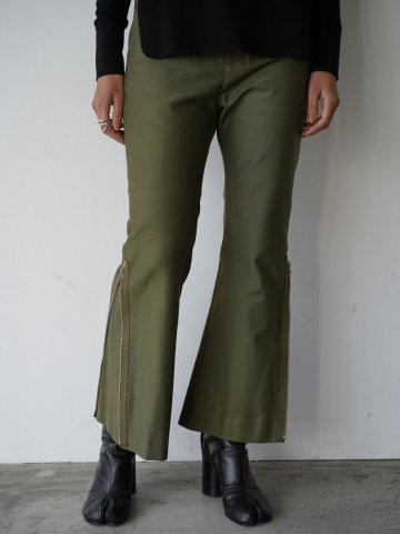 """RUMBLE RED """"Military Flare Pants"""""""