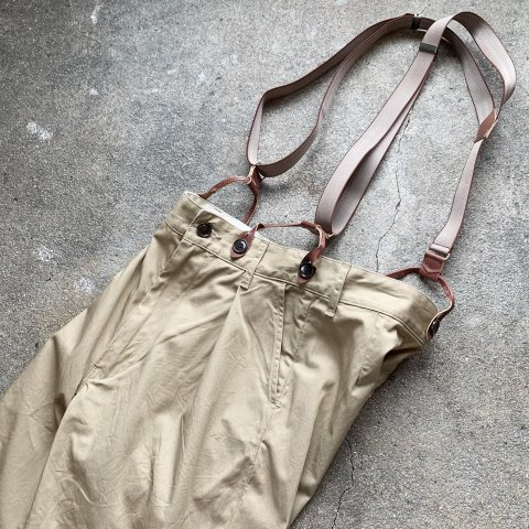 """H.UNIT """"Comba twill suspenders trousers"""""""