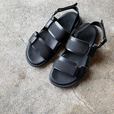 "NUOVO NICAR  ""Nylon Strap Leather Sandal"""