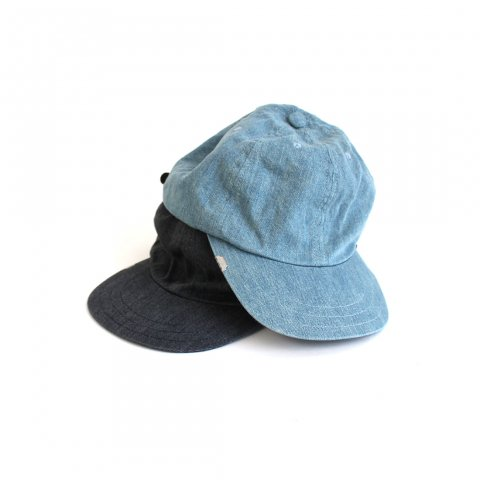 "ANACHRONORM ""BLEACH LEATHER BACKLE CAP"""
