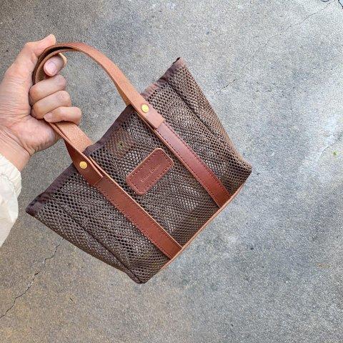 """BrownBrown """"Mesh Handle Bag"""""""