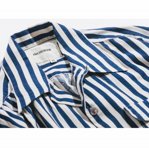 """ANACHRONORM  """"PT RAYON S/S RESIZE OPEN COLLAR SHIRT"""""""