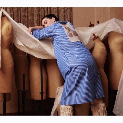 "BELPER ""STRIPE DRESS (blue/white)"""