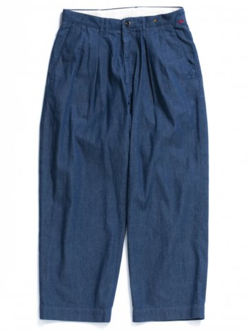 "ANACHRONORM ""DENIM TUCK WIDE TROUSERS"""