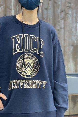 """H.UNIT """"Nice college crewneck sweat"""""""