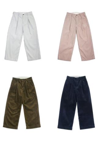 """H.UNIT """"Corduroy crown size trousers"""""""