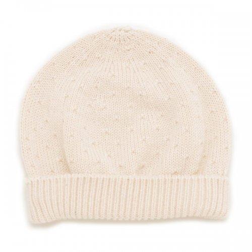 透かし柄無縫製ニット帽