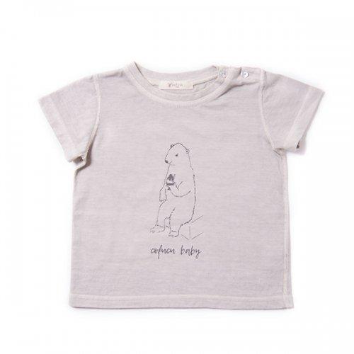 ベンガラ染めTシャツ 白熊・深川色