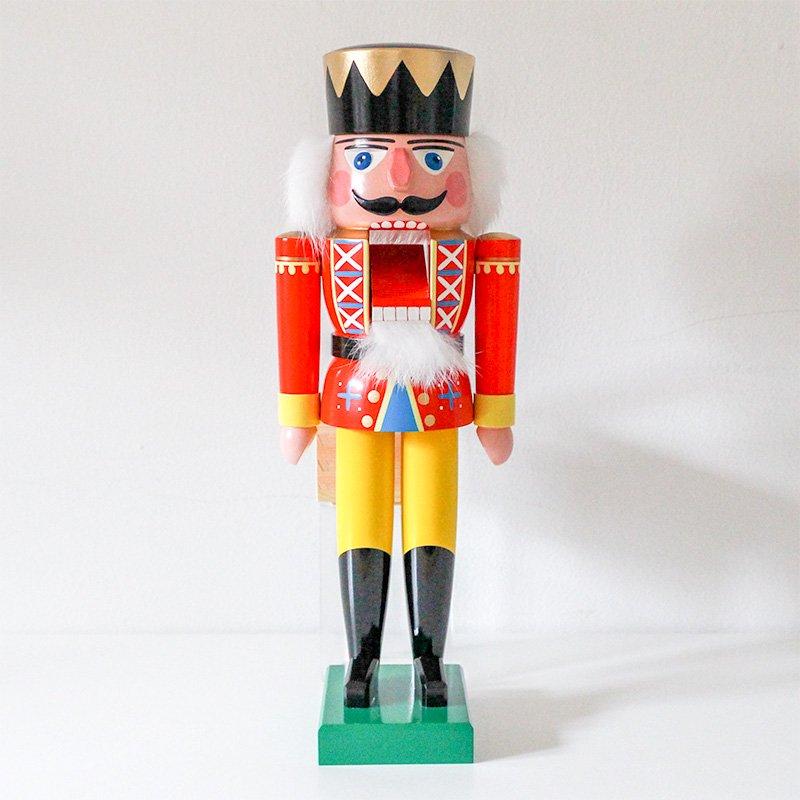 Volker Fuechter フュヒトナー くるみ割り人形 王様 赤 36cm