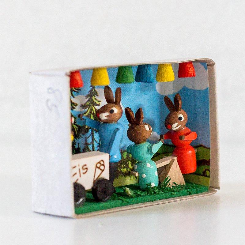 Gisbert Neuber ギスベルト・ノイバー マッチ箱 ウサギのお祭り