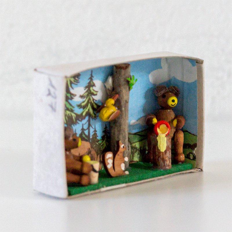 Gisbert Neuber ギスベルト・ノイバー マッチ箱 クマさんたちの森