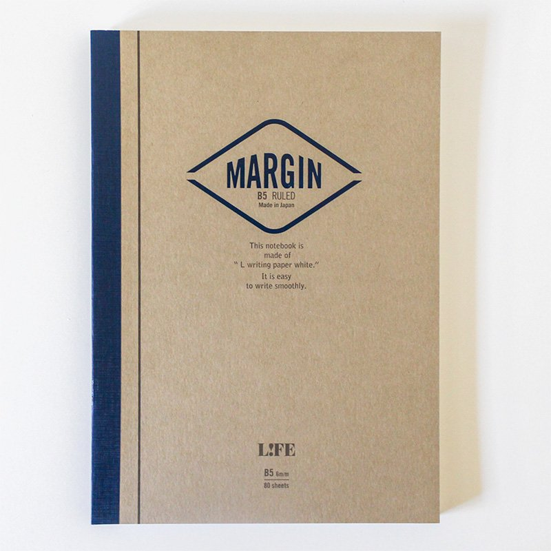 LIFE ライフ マージンノート MARGIN B5 横罫