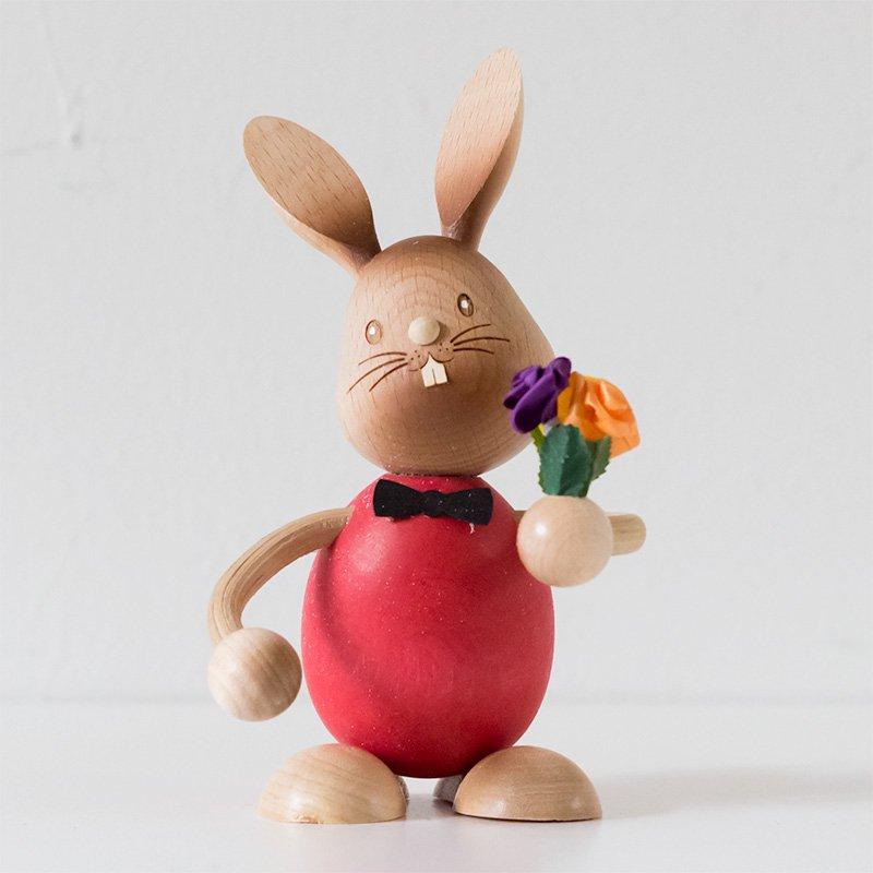 Drechslerei Kuhnert クナート ウサギと花束