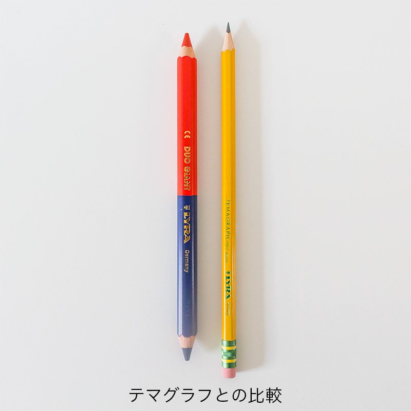LYRA リラ 2色鉛筆 デュオジャイアント 赤×青