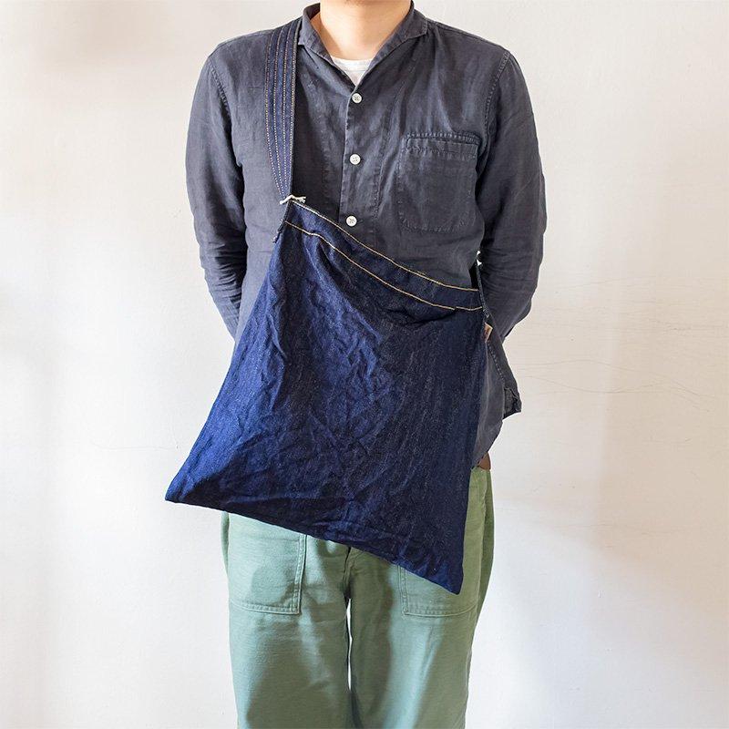 松野屋 THREAD-LINE スレッドライン デニムフラットショルダー ポケット付き