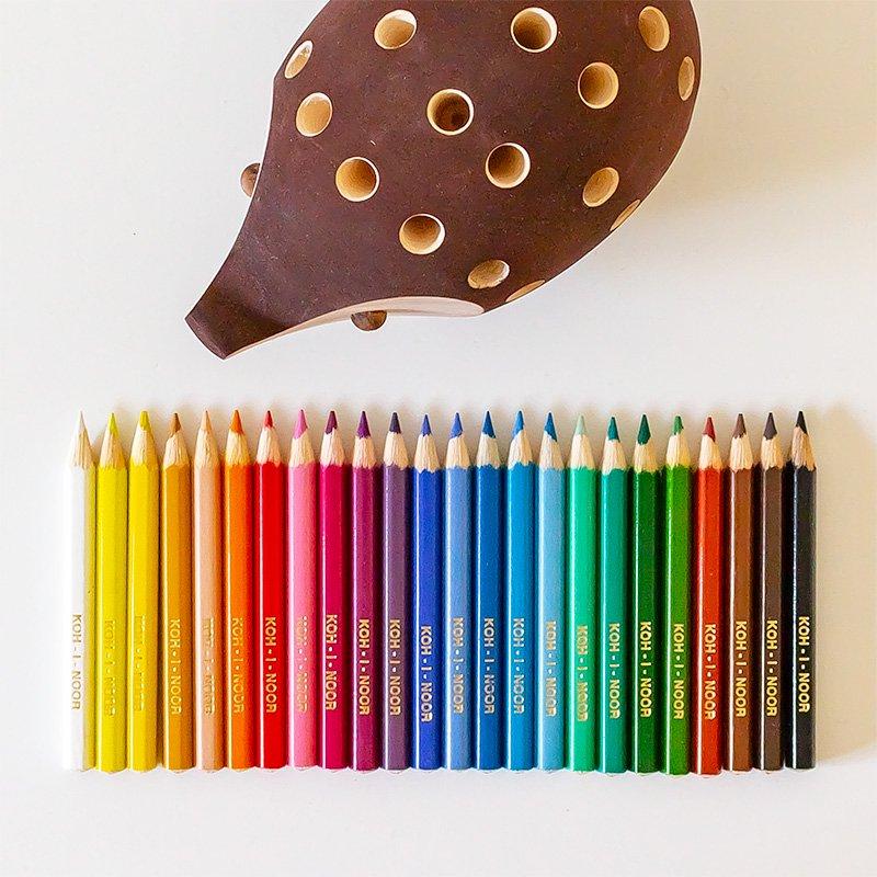 KOH-I-NOOR コヒノール スモール ハリネズミ 色鉛筆セット ブラウン