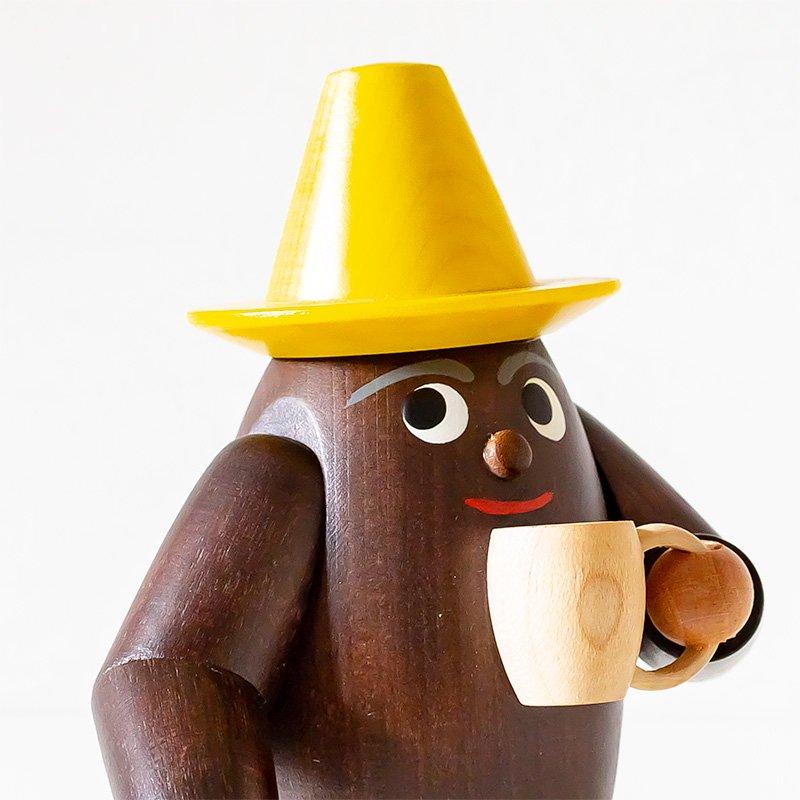 煙出し人形 コーヒー豆くん