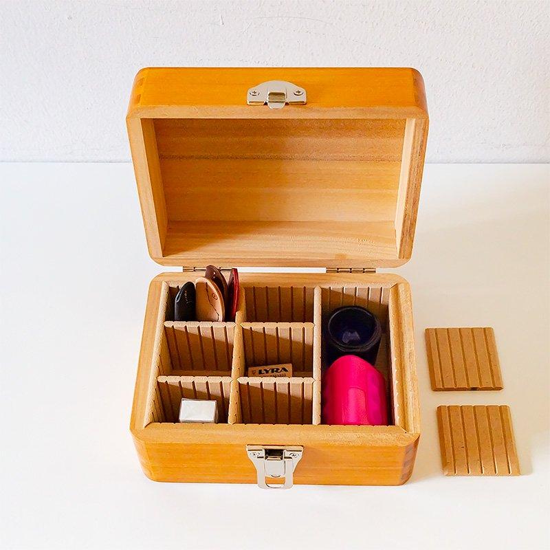 松野屋 木製印箱 小