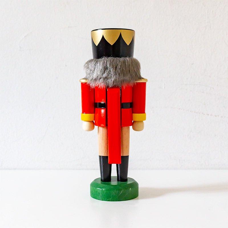 HoDreWa Legler レグラー くるみ割り人形 王様 赤×ナチュラル 17cm