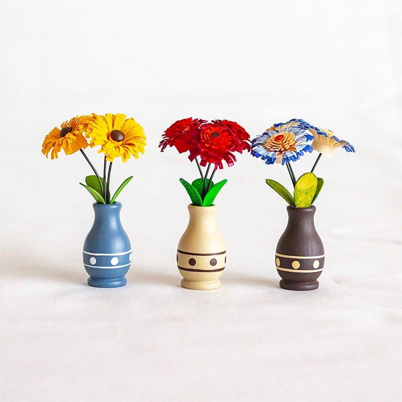 Werkstatt Leichsenring ライヒゼンリング 花びんのお花 3個セット