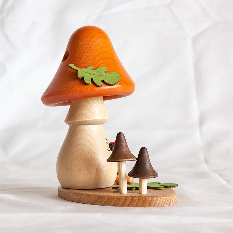 Drechslerei Kuhnert クナート 煙出人形 キノコのおうち サンドチップ