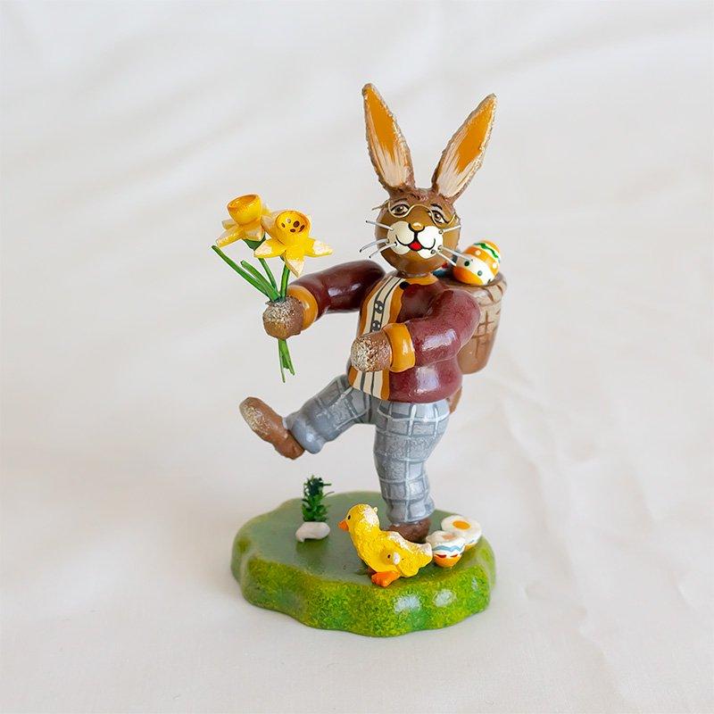 Hubrig Volkskunst ヒューブリッグ 水仙とウサギ