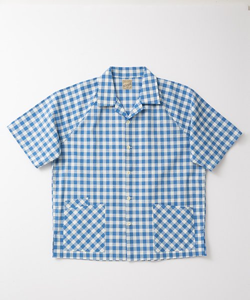 <img class='new_mark_img1' src='https://img.shop-pro.jp/img/new/icons20.gif' style='border:none;display:inline;margin:0px;padding:0px;width:auto;' />RAGTIME GINGHAM BARBER SHIRTS