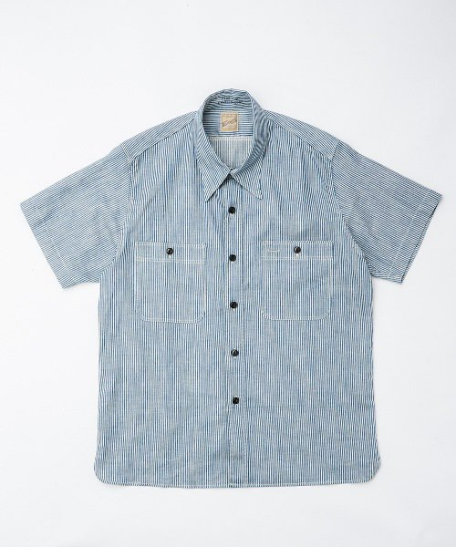 <img class='new_mark_img1' src='https://img.shop-pro.jp/img/new/icons20.gif' style='border:none;display:inline;margin:0px;padding:0px;width:auto;' />RAGTIME TRIPLE STITCH HICKORY STRIPE S/S SHIRTS