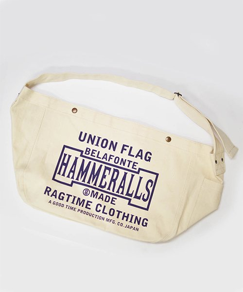 RAGTIME HERRINGBONE NEWSPAPER BAG UNION PRINT