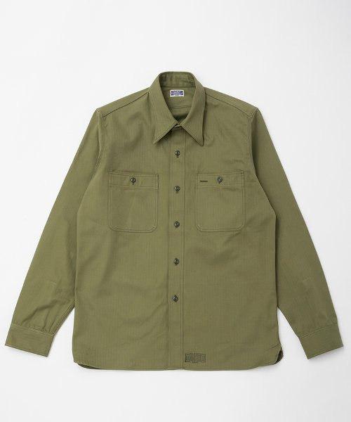 <img class='new_mark_img1' src='https://img.shop-pro.jp/img/new/icons20.gif' style='border:none;display:inline;margin:0px;padding:0px;width:auto;' />RAGTIME TRIPLE STITCH SHIRTS HERRINGBONE