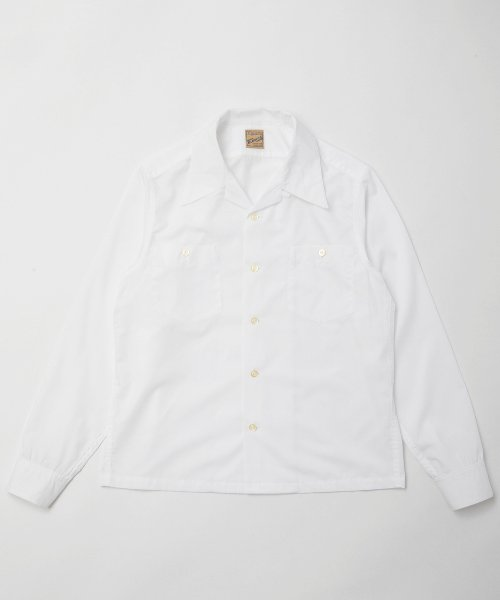 RAGTIME LONG POINT OPEN COLLAR SHIRTS L/S