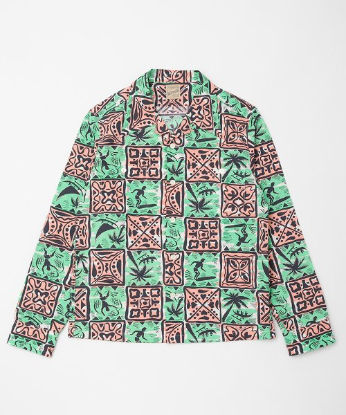 RAGTIME HAWAIIAN LONG POINT OPEN SHIRTS L/S