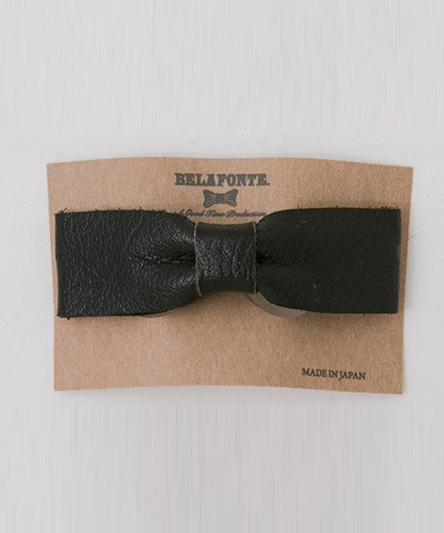 BUFFALO LEATHER CLIP BOW TIE
