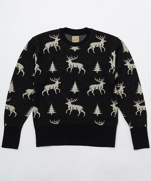 <img class='new_mark_img1' src='https://img.shop-pro.jp/img/new/icons20.gif' style='border:none;display:inline;margin:0px;padding:0px;width:auto;' />RAGTIME DEER PATTERN  SWEATER