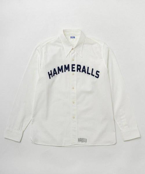 <img class='new_mark_img1' src='https://img.shop-pro.jp/img/new/icons20.gif' style='border:none;display:inline;margin:0px;padding:0px;width:auto;' />RAGTIME TRIPLE STITCH WHITE CHAMBRAY SHIRTS HAMMERALLS CHAIN STITCH