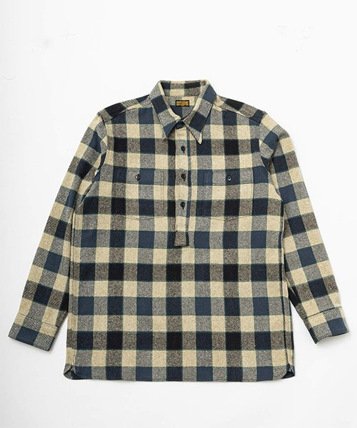 <img class='new_mark_img1' src='https://img.shop-pro.jp/img/new/icons20.gif' style='border:none;display:inline;margin:0px;padding:0px;width:auto;' />RAGTIME PULL OVER PLAID FLANNEL SHIRTS
