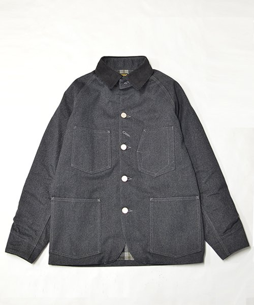RAGTIME HAMMERALLS JACKET WITH  PLAID FLANNEL LINING (CHANGE BUTTON)