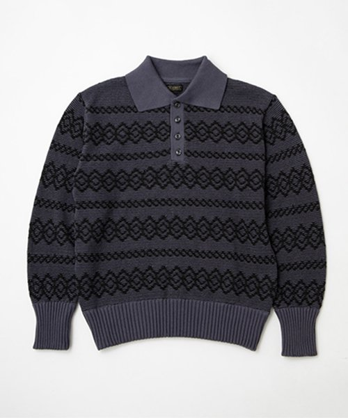 RAGTIME ARGYLE POLO KNIT