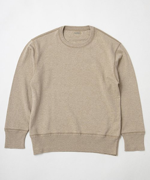 RAGTIME HEATHER MIX COTTON KNITTED AZE RIB SWEATER L/S
