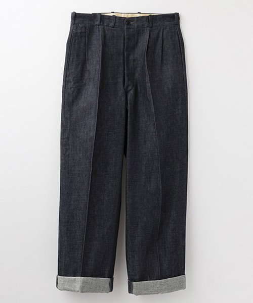 <img class='new_mark_img1' src='https://img.shop-pro.jp/img/new/icons56.gif' style='border:none;display:inline;margin:0px;padding:0px;width:auto;' />RAGTIME DENIM 2TACK TROUSERS ROLLED UP HEM